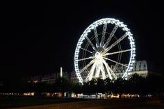 Panorama van Parijs - mening over de rivier van de Zegen stock foto's