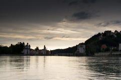 Panorama van Passau Royalty-vrije Stock Foto's