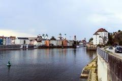 Panorama van Passau in Duitsland Royalty-vrije Stock Afbeeldingen