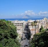Panorama van Patras Griekenland stock afbeeldingen