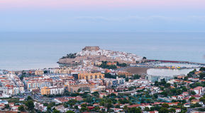 Panorama van Peniscola (Spanje) Stock Afbeelding