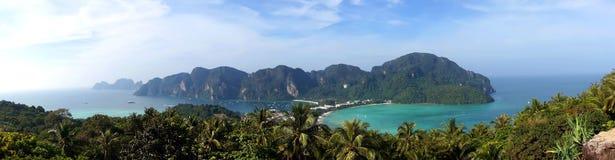 Panorama van phi-Phi eiland, Krabi-Provincie Stock Foto's