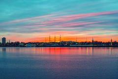 Panorama van Philadelphia stock fotografie
