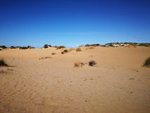 Panorama van Piscinas-Duin in Sardinige Royalty-vrije Stock Fotografie