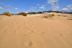 Panorama van Piscinas-Duin in Sardinige Stock Foto's
