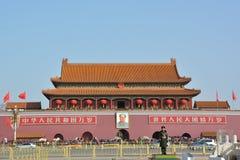 Panorama van Poort Tiananmen Stock Afbeelding