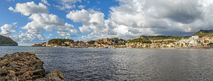 Panorama van Port DE Soller Stock Fotografie