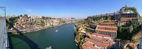 Panorama van Porto stock afbeelding