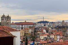 Panorama van Porto Horizon Porto, Portugal royalty-vrije stock fotografie