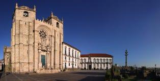 Panorama van Porto Kathedraal, Portugal Stock Afbeeldingen