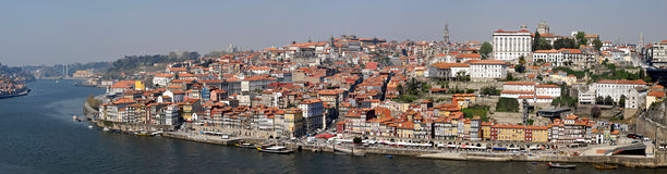 Panorama van Porto met rivier Duoro, Portugal. Royalty-vrije Stock Fotografie