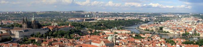 Panorama van Praag stock foto