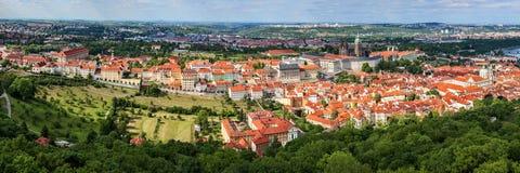Panorama van Praag Royalty-vrije Stock Foto's