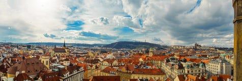 Panorama van Praag Stock Foto's