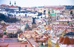 Panorama van Praag, Tsjechische Republiek Stock Foto's