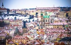 Panorama van Praag, Tsjechische Republiek Royalty-vrije Stock Foto's