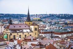 Panorama van Praag, Tsjechische Republiek Stock Fotografie