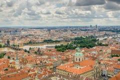 Panorama van Praag, Tsjechische Republiek Royalty-vrije Stock Afbeelding
