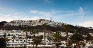 Panorama van Puerto Rico, Gran Canaria stock afbeeldingen