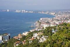 Panorama van Puerto Vallarta Stock Fotografie
