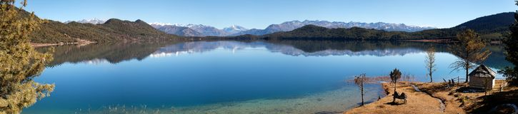 Panorama van Rara Daha of Mahendra Tal Lake Royalty-vrije Stock Fotografie