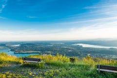 Panorama van Regionale Parkcampo dei Fiori van Varese Stock Fotografie