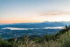 Panorama van Regionale Parkcampo dei Fiori van Varese, Italië Stock Afbeeldingen