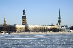 Panorama van Riga Royalty-vrije Stock Afbeelding