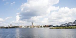 Panorama van Riga, Royalty-vrije Stock Afbeelding