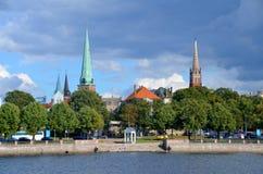 Panorama van Riga Royalty-vrije Stock Foto's