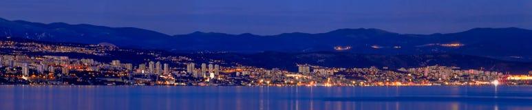 Panorama van Rijeka Stock Afbeelding