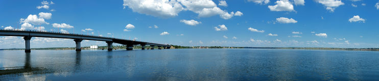 Panorama van rivier Stock Foto's