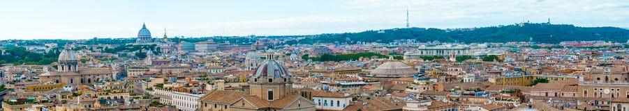 Panorama van Rome, Italië Stock Afbeeldingen