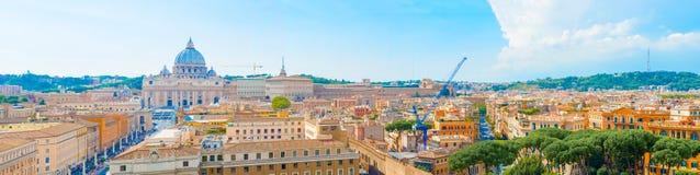Panorama van Rome, Italië Stock Fotografie