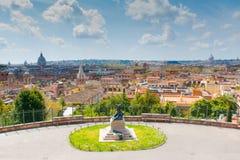 Panorama van Rome, Italië Stock Foto