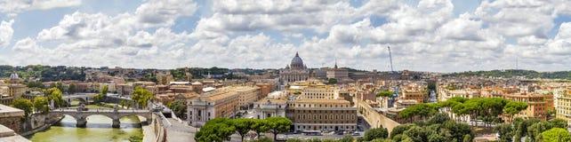 Panorama van Rome, Italië Royalty-vrije Stock Foto's