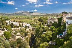 Panorama van Ronda, Andalusia, Spanje Stock Foto