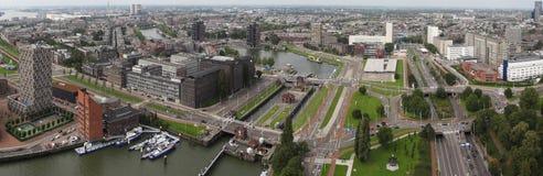 Panorama van Roterdam Royalty-vrije Stock Foto's
