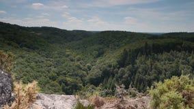 Panorama van Rots van Oetre in Normandië, Frankrijk, PAN stock videobeelden