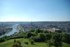 Panorama van Rouen Stock Foto's