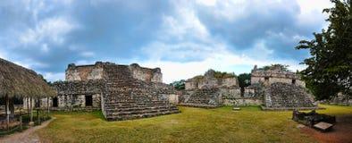 Panorama van Ruïnes ek-Balam Stock Fotografie