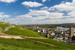Panorama van Ruedesheim am Rijn royalty-vrije stock fotografie