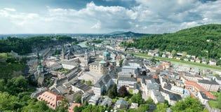 Panorama van Salzburg Stock Fotografie