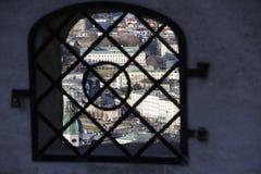 Panorama van Salzburg Stock Foto