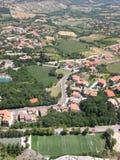 Panorama van San Marino Stock Foto