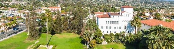 Panorama van Santa Barbara die hierboven wordt gezien van royalty-vrije stock afbeeldingen