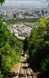 Panorama van Santiago Stock Foto's