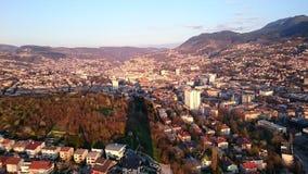 Panorama van Sarajevo Royalty-vrije Stock Foto's