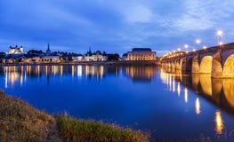 Panorama van Saumur Royalty-vrije Stock Afbeeldingen