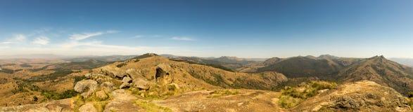 Panorama van Savannelandschap in Bergen van Swasiland Royalty-vrije Stock Afbeelding